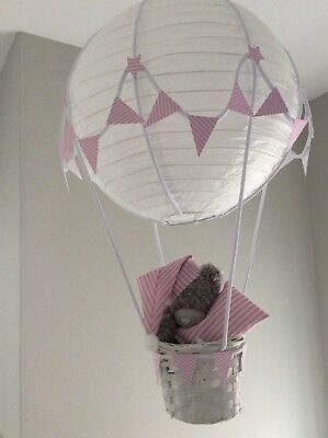 Hot air balloon  nursery lightshade, made to order