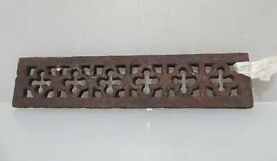 Victorian Iron Air Brick Vent Grille Grate Architectural Antique Old Gothic