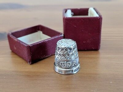 Silver Thimble by Henry Griffiths & Sons 1953 Elizabeth II Coronation