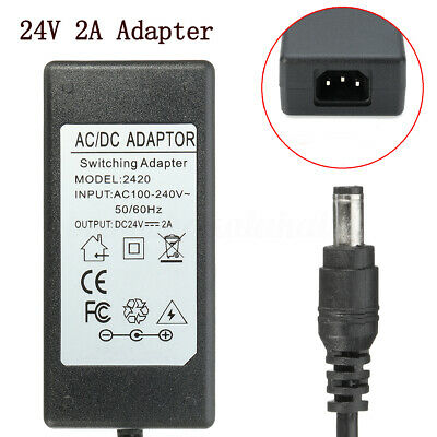 Meco 24V Power Supply Adapter Charger For Logitech Racing Wheel G27 G25 G940 APD