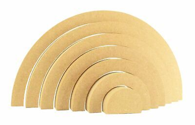 Stacking Rainbow Shape 18mm Thick MDF Craft Blank Shape 3 Sizes Paint Your Own