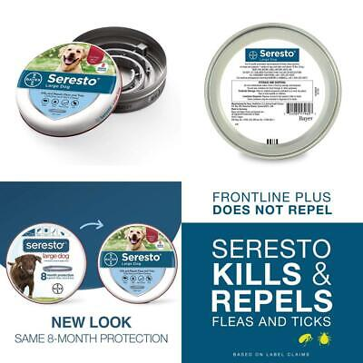 Seresto flea and tick collar for large dogs, 8 month prevention