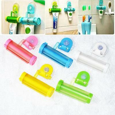 Toothpaste Dispenser Rolling Squeezer Holder Hanging Hook Suction Tube CS