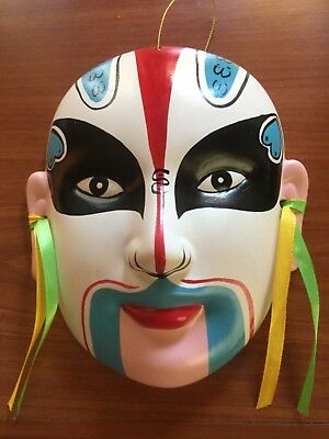 Ornamental Chinese Ceramic Drama Mask..excellent condition