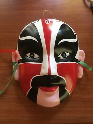 Chinese Handpainted Ceramic Theatre Mask..excellent condition