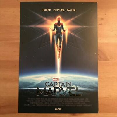 Captain Marvel Art Card Poster A4 Official Odeon NEW