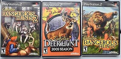 3 Cabela's Dangerous Hunts, Dangerous Hunts 2, Deer Hunt Playstation 2 Complete