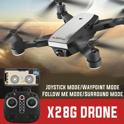 Helicopter Quadcopter Foldable GPS-Drone 2.4G Wifi FPV Dual HD 5MP Practical