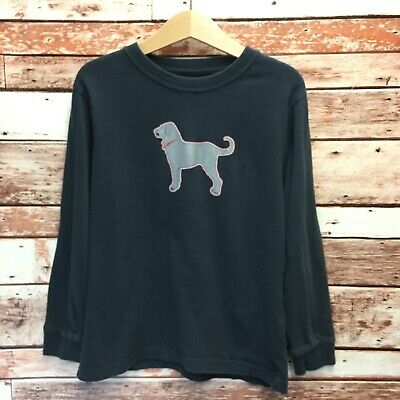 The Black Dog Boys Black New England Long Sleeve Youth T-Shirt. Size XSmall.
