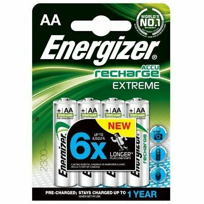 Energizer 2300mAh AA Precision Rechargeable Batteries (Pack of 4)