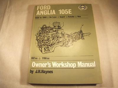 Ford Anglia 105E1959-1968 Deluxe,Super,Estate,Van  Haynes Workshop Manual 001