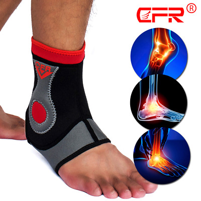 Ankle Support Brace Compression Sleeve Foot Pain Relief MMA Jogging Neoprene DSM