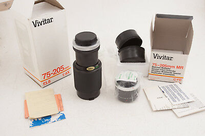 Vivitar Canon FD Mount 75-205mm f/3.8 Macro Lens w/Matched 2x Multiplier (B2R)