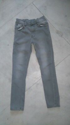 Next boys skinny jeans 8 years 128cm 24 leg demin grey elasticated waist