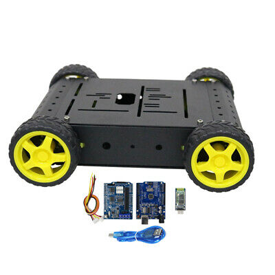 DIY Robot Smart Car Chassis Kit,Plastic Wheels Bluetooth Controlled