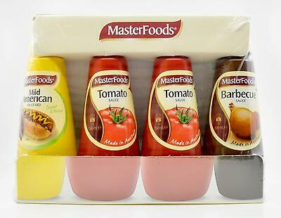 MasterFoods Sauce Combination Pack,Tomato Sauce, Barbecue Sauce American Mustard