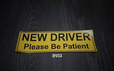 New Student Please Be Patient Sticker Gas Car Decal Driver (3pack) 3x9