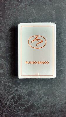 Rare Punto Banco Poker Size Deck Of Sealed Playing Cards.(Sealed=Mint)