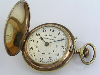 Hunter Cased Pocket Watch / Escapement Incomplete / Repair