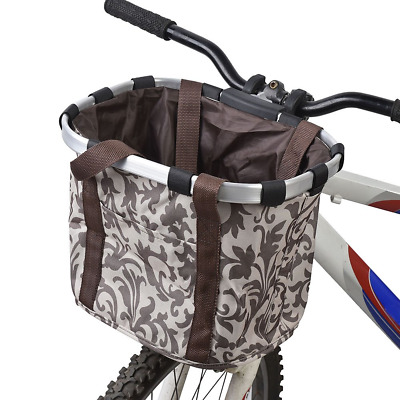 Sturdy Front Pet Dog Cat Bicycle Basket Carrier for Bike Travel Case Brown