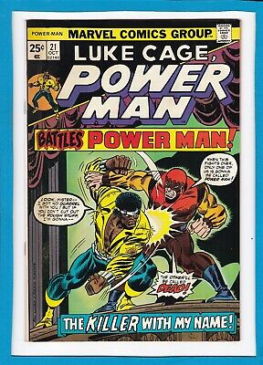 """Luke Cage, Power Man #21_Oct 1974_Vf/nm_""""the Killer With My Name""""_Bronze Age!"""