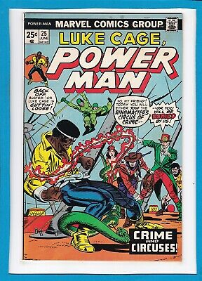 """Luke Cage, Power Man #25_June 1975_Very Fine_""""crime And Circuses""""_Bronze Age!"""