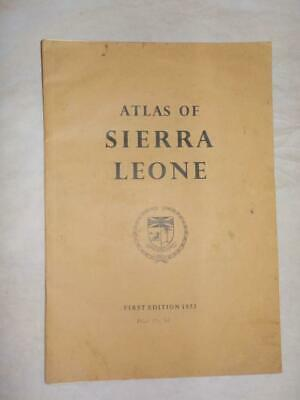 1953 1st EDITION ATLAS OF SIERRA LEONE BY SURVEY & LANDS DEPT FREETOWN #2
