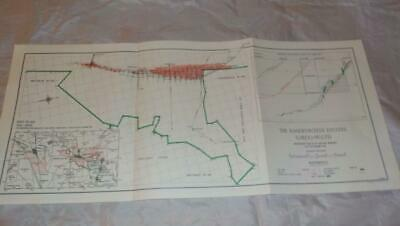 1958 Map Of Underground Workings Randfontein Bird Reef Gold Mine S. Africa  #21