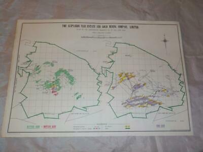1958 Map Of Underground Workings Luipaards Vlei Gold Mine South Africa  #22