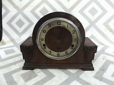 Vintage Art Deco German 'FHS' 8-Day Mantel Clock  westminter chime