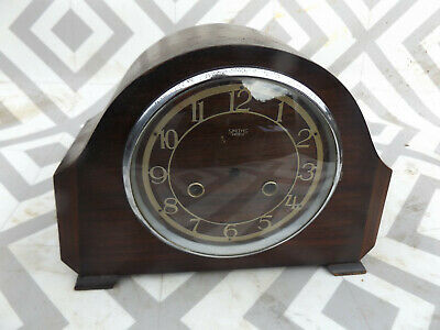 Vintage Smiths wooden cased mantle clock