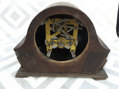 Vintage Wooden Mantle Clock Case  (Smith Made In England)
