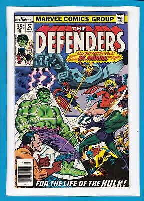 """The Defenders #57_March 1978_Very Good+_Ms. Marvel_""""for The Life Of The Hulk""""!"""