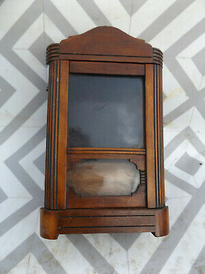 ANTIQUE victorian ART DECO MANTEL CLOCK WOOD CASE maple look