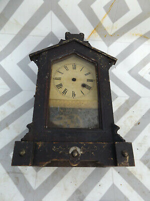 Antique gothic style oak clock case