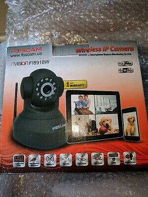 2X FOSCAM WIRELESS ip camera FI8918W internet and smart