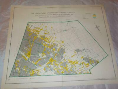 1958 Map Of Underground Workings Grootvlei Proprietary Gold Mines S.africa #30