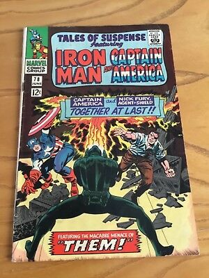 Tales Of Suspense  #78 June 1966. Featuring Iron Man And Captain America.