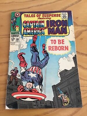 Tales Of Suspense  #96 December 1967. Featuring Iron Man And Captain America.
