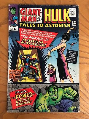 Tales To Astonish #66. 1965. Early Hulk Plus Giant-Man And The Wasp