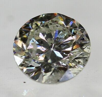 Certified 0.42 Carat H SI2 Round Brilliant Enhanced Natural Diamond 4.8mm EX CUT