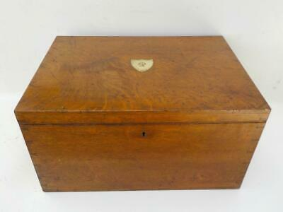Antique Oak Goldsmiths & Silversmith Company Silver Chest With Swan Family Crest