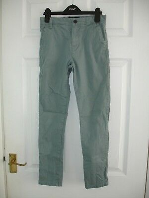 Boys Next Duck Egg Blue Skinny Trousers Size 10 Years