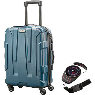 """Samsonite Centric Hardside 20"""" Carry-On Luggage,Teal w/ Portable Luggage Scale"""