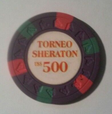 Torneo Sheraton Horse Head Right Mold Hard To Find $500.00 Gaming Chip!