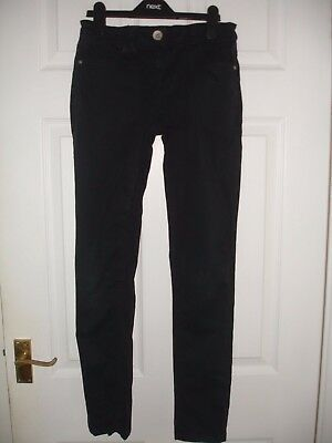 Girls Black Next Skinny Trousers Size 14 Years