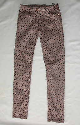 Girls' Purple/Beige Next Jeans with Black Spots Size 10 Years