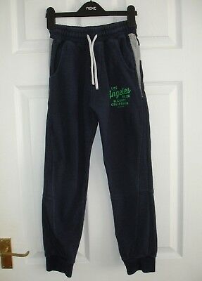 Boys Navy Blue Next Tracksuit Trousers/Joggers/Jogging Trousers Size 10 Years