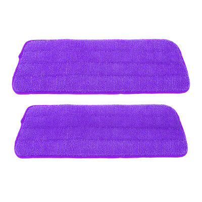 2 Pack Free Hand Washing Spray Mop Cloths/Pads, Polyester Fiber, Purple