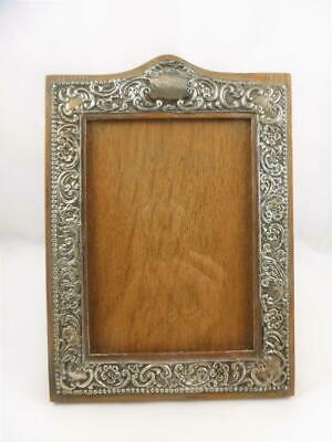 Edwardian Sterling Silver & Wood Photograph Frame HM 1908 Birm Henry Williamson